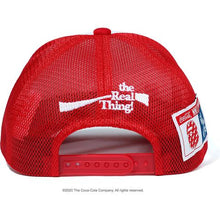 Load image into Gallery viewer, bape x coca cola mesh cap (red)