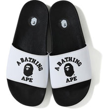 Load image into Gallery viewer, bape college slide sandals (white)