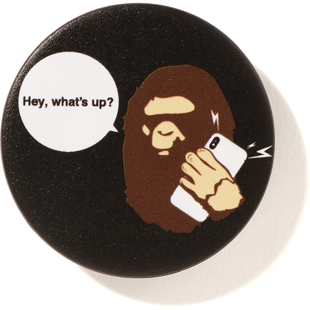bape popsockets ape headphone grip (black)