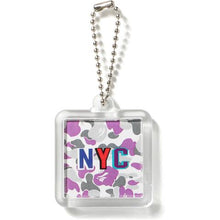 Load image into Gallery viewer, bape NYC keychain (ny camo)