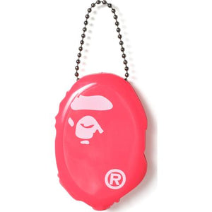bape ape head coin case (pink)