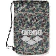 Load image into Gallery viewer, bape x arena mesh drawstring tote bag (green)