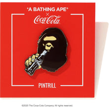 Load image into Gallery viewer, bape x coca cola apehead pintrell pin