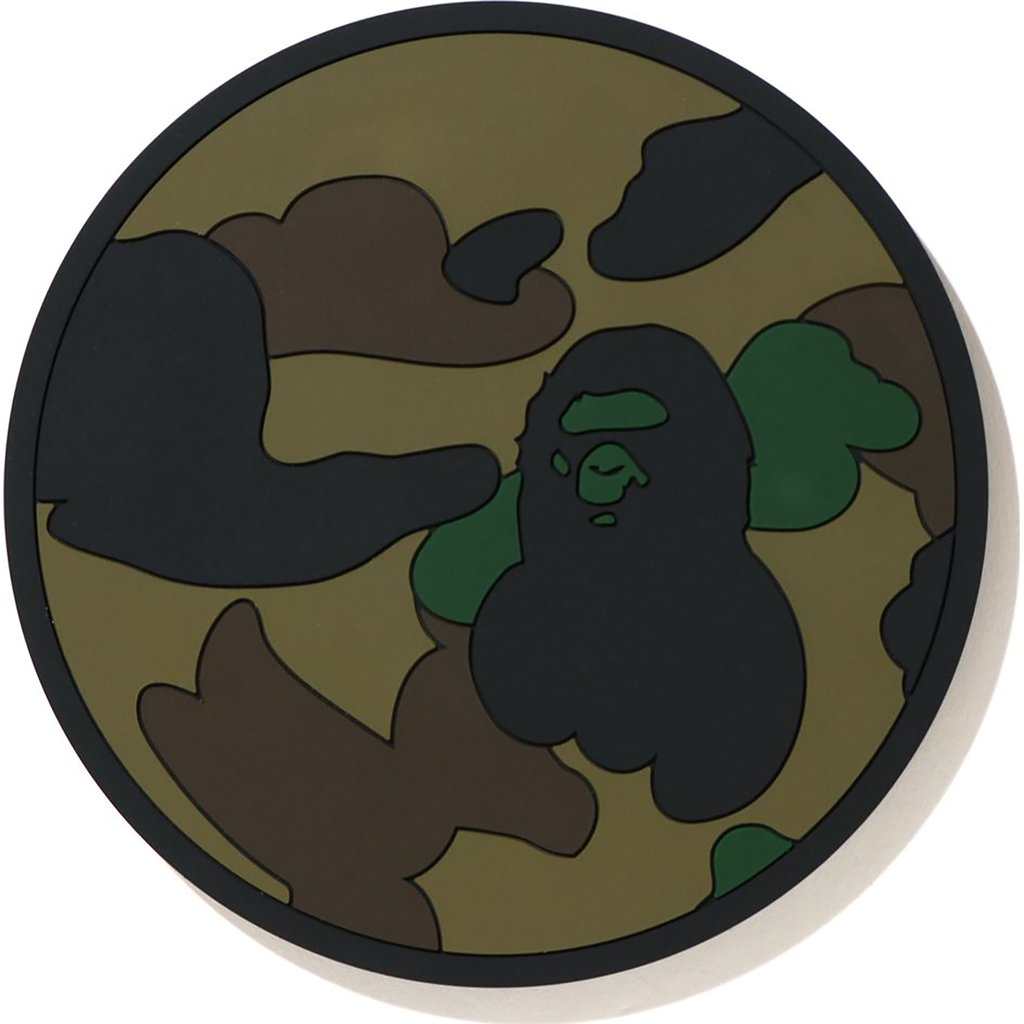 bape 1st camo reversible rubber coaster (green)
