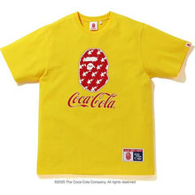 Load image into Gallery viewer, bape x coca cola tee (yellow)