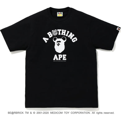 bape medicom toy be@r college tee (blk)