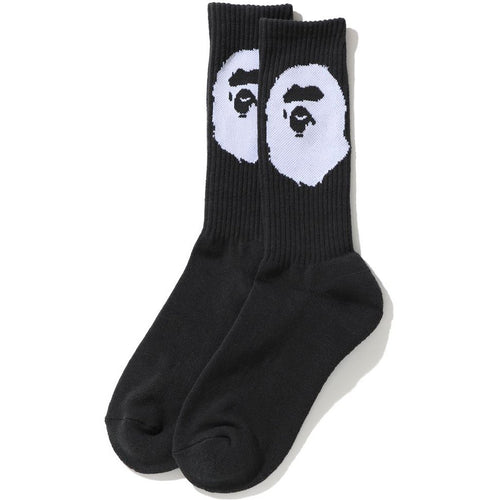bape ape head socks (blk)