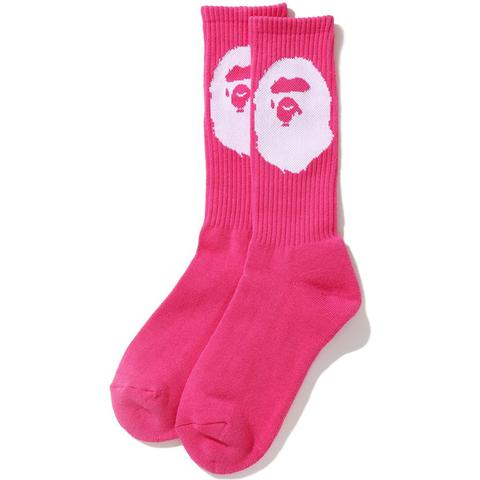 bape ape head socks (pink) ss20