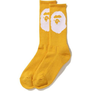 bape ape head socks (yellow)