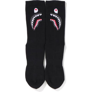 bape 2nd shark socks (blk)