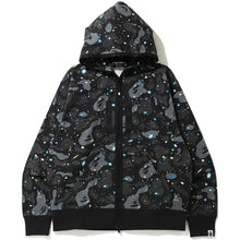 Load image into Gallery viewer, bape relaxed fit space camo full zip hoodie (blk)