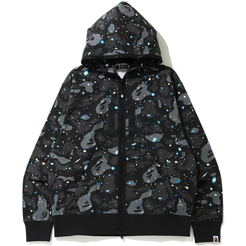 bape relaxed fit space camo full zip hoodie (blk)