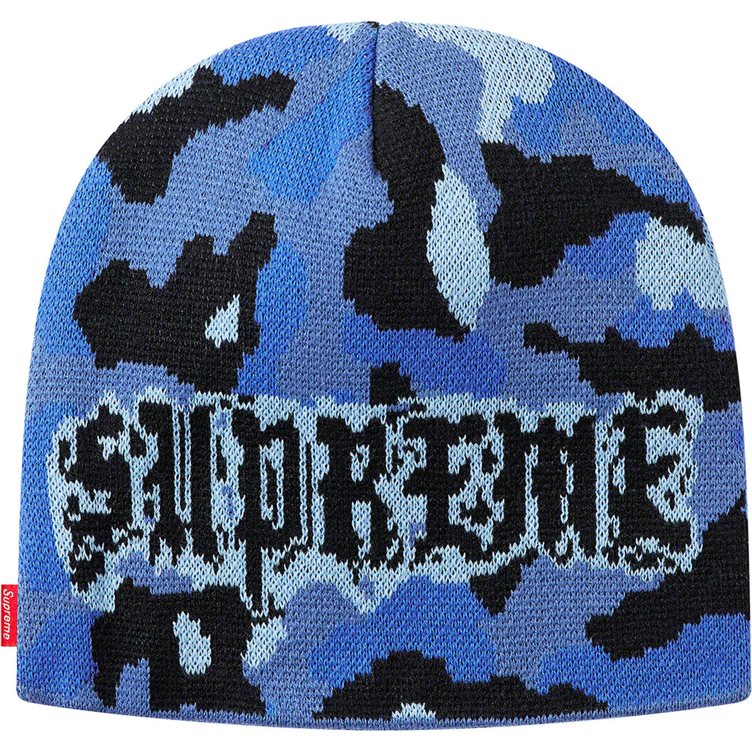 supreme paris camo beanie (blue camo)
