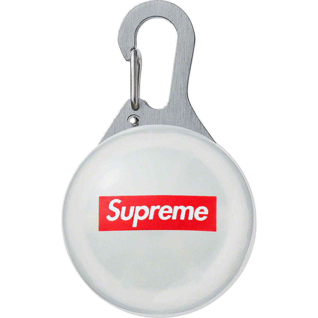 supreme spotlight keychain (clear)