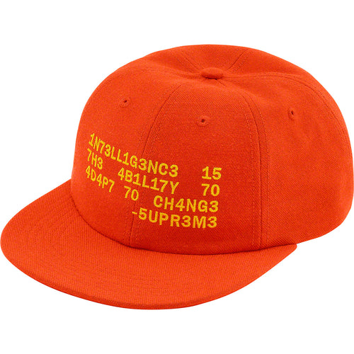supreme intelligence 6-panel cap (orange)