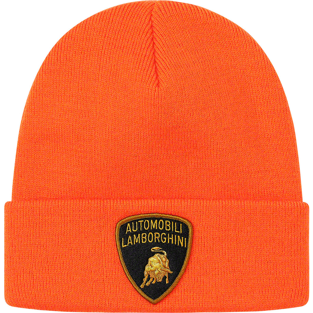 supreme x lamborghini beanie (orange)