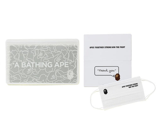 bape abc neon camo case + mask (white)