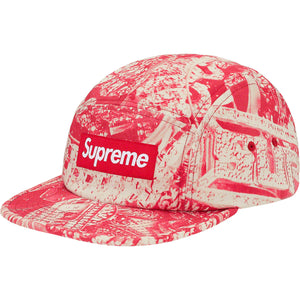 supreme bling camp cap (red)