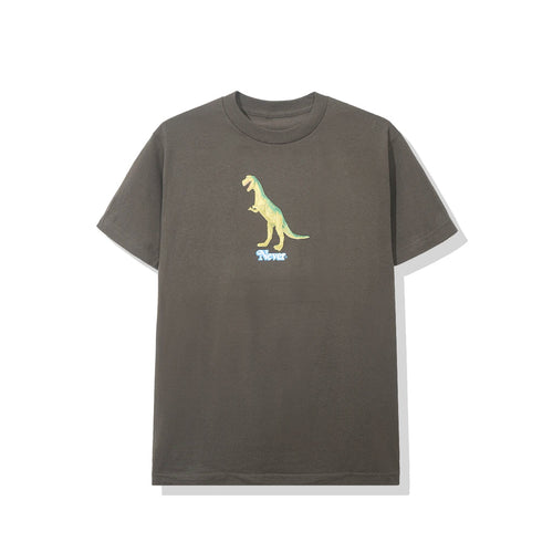 anti social social club 'plastic t-rex' tee (brown)