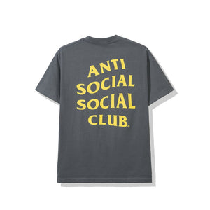 anti social social club 'london' tee (grey)