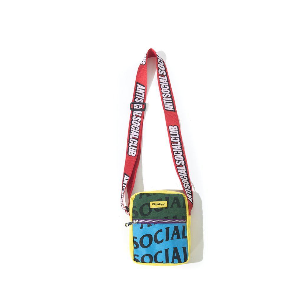 anti social social club no plastic side bag (multi-color)
