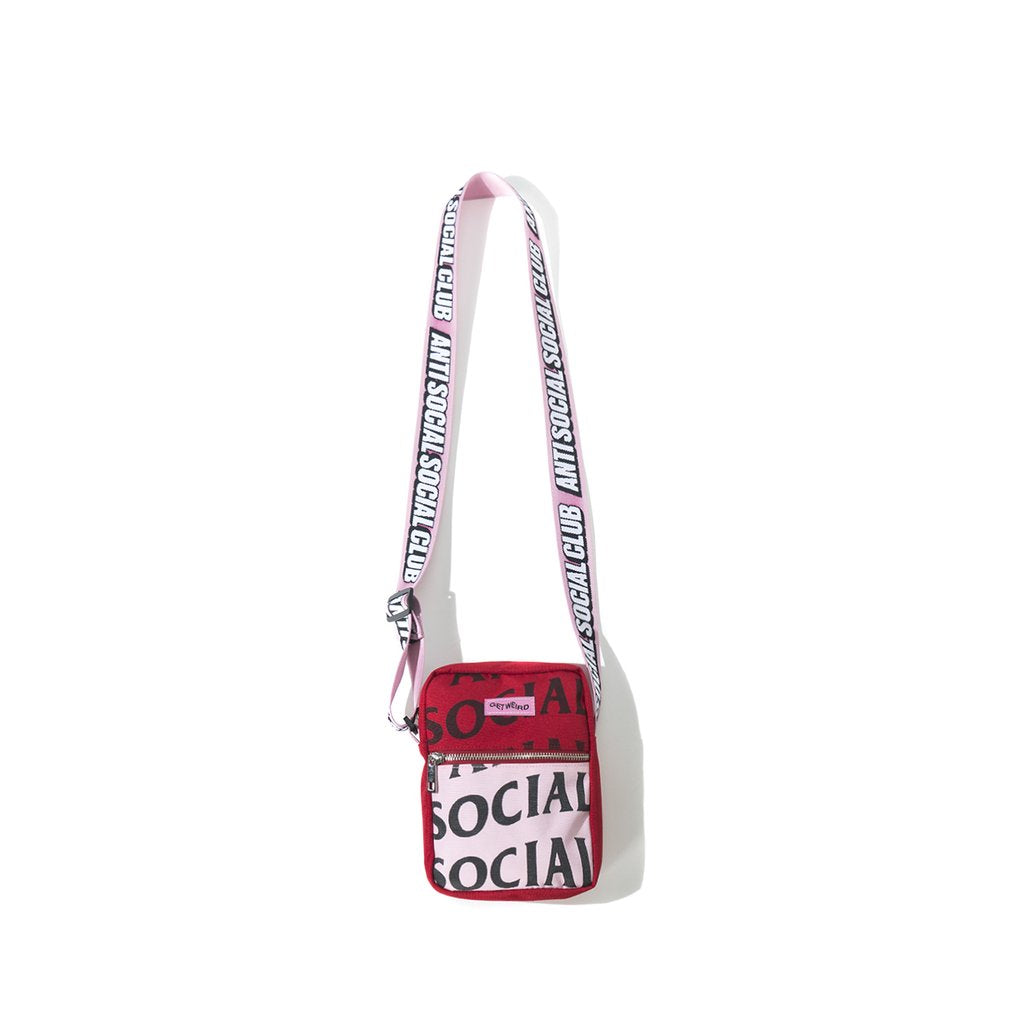 anti social social club no plastic side bag (pink)