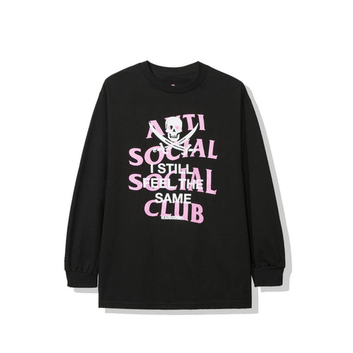 anti social social club x neighborhood 'black jack' longsleeve tee (blk)