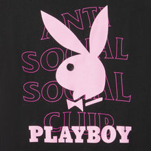 Load image into Gallery viewer, anti social social club playboy tee (blk)