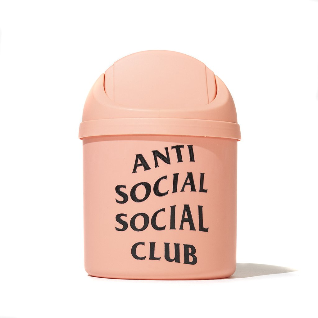anti social social club trashed waste bin