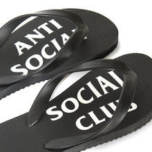 Load image into Gallery viewer, anti social social club UFO slippers (blk)