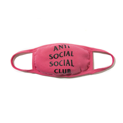 anti social social club logo facemask (pink)