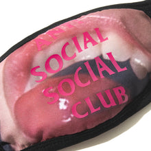 Load image into Gallery viewer, anti social social club 'open wide' facemask