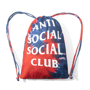 anti social social club estilo hippie tie dye bag (blue)