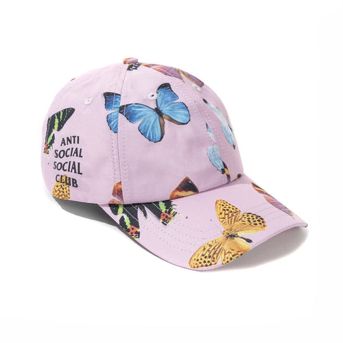 anti social social club ashton cap (pink)