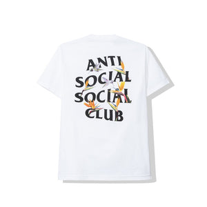 anti social social club 'pair of dice' tee (wht)
