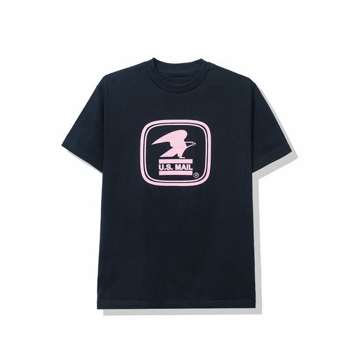 anti social social club x usps work tee (navy)