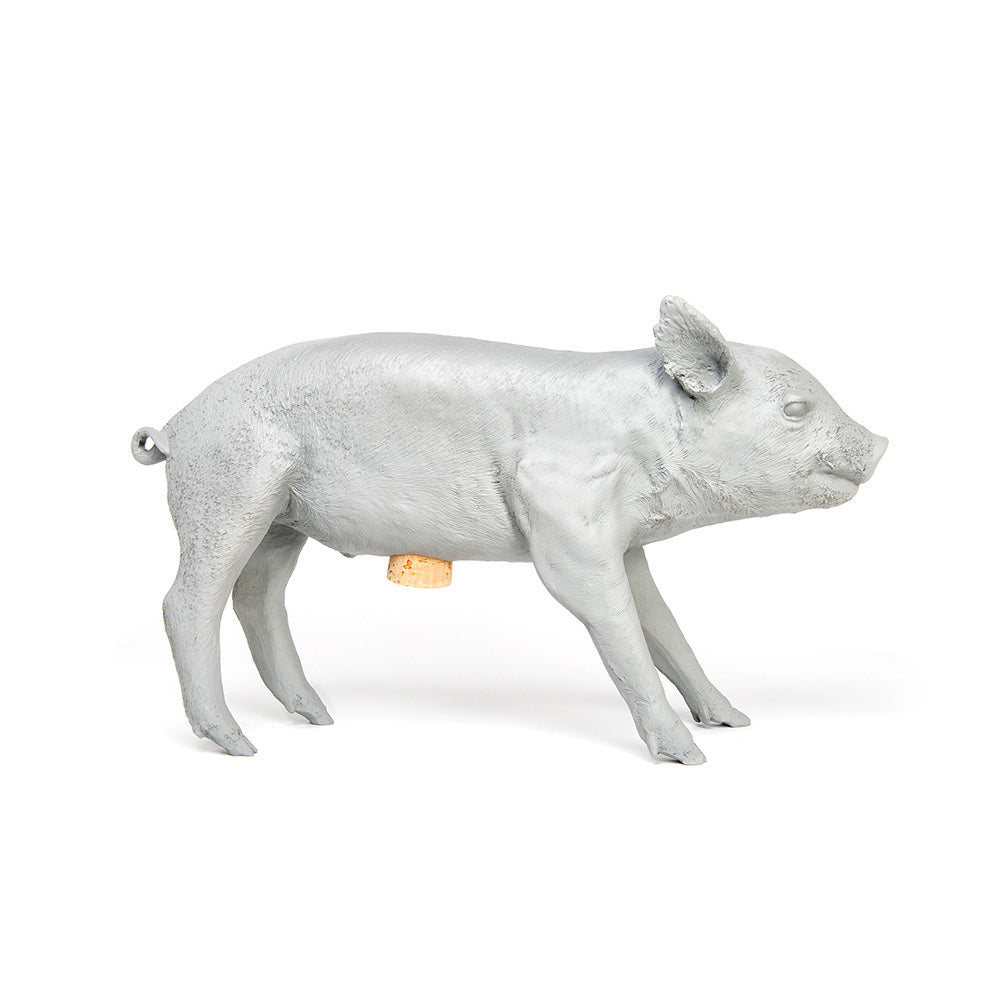 areaware reality piggy bank (matte grey)