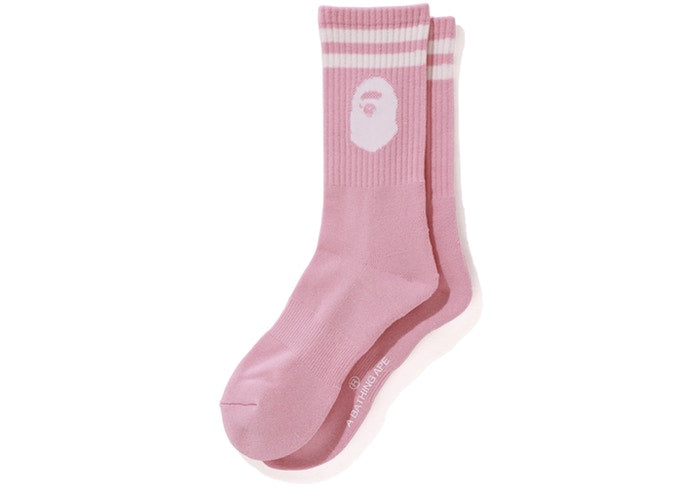 bape ape head socks (pink)