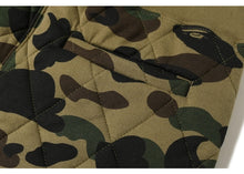 Load image into Gallery viewer, bape 1st camo slim quilting pants (green)