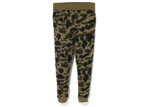 bape 1st camo slim quilting pants (green)