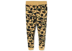 bape 1st camo slim quilting pants (yellow)
