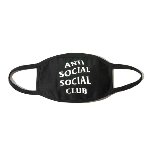 anti social social club medical mask (blk)