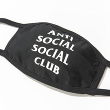 Load image into Gallery viewer, anti social social club medical mask (blk)