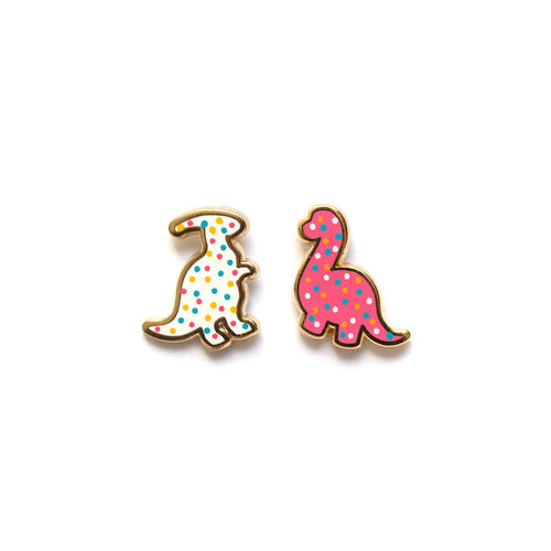 luxcups dino cookie earrings