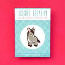 Load image into Gallery viewer, luxcups donkeycorn enamel pin