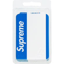 Load image into Gallery viewer, supreme name badge stickers (pack of 100 - blue)