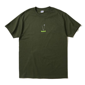 fuct 'safety pin' tee (olive)