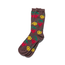 Load image into Gallery viewer, human made x cpfm we're good! pattern socks (brown)
