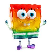 "Load image into Gallery viewer, kidrobot spongebob 20th anniversary 8"" art figure (rainbow ed - SDCC exclusive)"
