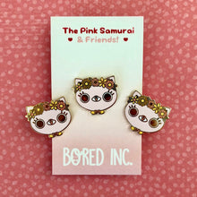 Load image into Gallery viewer, bored inc pink samurai enamel pin